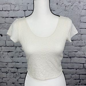 Abercrombie & Fitch NWT Cream Colored Crop Top